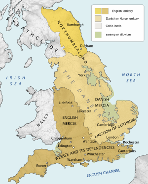 Extent of the Danelaw