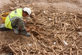 Burial pit of decapitated bodies thought to be victims of the St Brice's Day Massacre