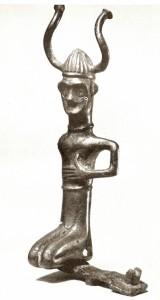 danish figure horned helmet