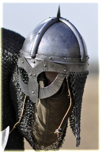 Reconstructed Gjermundbu (Spectacle) Helmet